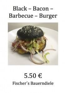 Black Bacon Barbecue Burger